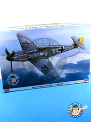 Hasegawa: Airplane kit 1/32 scale - Messerschmitt Bf 109 F-4 Priller - Luftwaffe (DE2) - Guadalcanal 1941 and 1942 - plastic model kit image