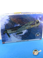 Hasegawa: Airplane kit 1/32 scale - Focke-Wulf Fw 190 Würger D-9 Jabo - Luftwaffe (DE2) - Ukranian