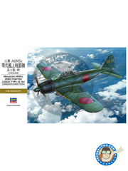 Hasegawa: Airplane kit 1/32 scale - Mitsubishi A6M Zero 5c Zeke Type 52 - Imperial Japanese Army Air Force (JP0) - plastic parts, water slide decals and assembly instructions
