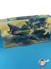 Hasegawa: Airplane kit 1/48 scale - Supermarine Spitfire Mk. IXc -  (GB4) - RAF - plastic parts, water slide decals and assembly instructions