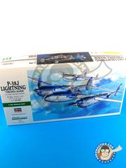 Hasegawa: Airplane kit 1/48 scale - Lockheed P-38 Lightning J - Guadalcanal - plastic model kit
