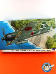 Hasegawa: Airplane kit 1/48 scale - Mitsubishi A6M Zero 5c Type 52 Hei - Guadalcanal - plastic model kit