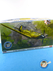 Hasegawa: Airplane kit 1/48 scale - Bell P-39 Airacobra Q - Thompson Trophy 1946 - plastic model kit image