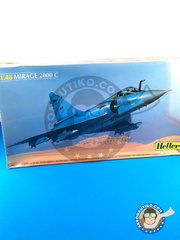 Heller: Airplane kit 1/48 scale - Dassault Mirage 2000 C - plastic parts, water slide decals and assembly instructions image