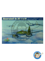 Hobby Boss: Airplane kit 1/48 scale - Messerschmitt Me 262 Schwalbe A-1a/U4 - plastic parts, water slide decals and assembly instructions
