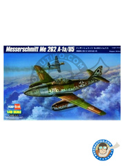 Hobby Boss: Airplane kit 1/48 scale - Messerschmitt Me 262 Schwalbe A-1a/U5 - plastic parts, water slide decals and assembly instructions