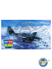 Hobby Boss: Airplane kit 1/48 scale - Messerschmitt Me 262 Schwalbe A-1b - plastic parts, water slide decals and assembly instructions