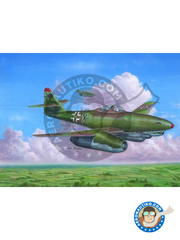 Hobby Boss: Airplane kit 1/48 scale - Messerschmitt Me 262 Schwalbe A-2a - plastic parts, water slide decals and assembly instructions