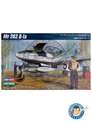 Hobby Boss: Airplane kit 1/48 scale - Messerschmitt Me 262 Schwalbe B-1a - plastic parts, water slide decals and assembly instructions
