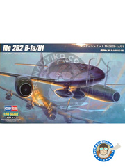 Hobby Boss: Airplane kit 1/48 scale - Messerschmitt Me 262 Schwalbe B-1a/U1 - plastic parts, water slide decals and assembly instructions