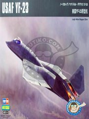 Hobby Boss: Airplane kit 1/48 scale - USAF Northrop YF-23 -  (US1) - USAF - plastic parts, water slide decals and assembly instructions
