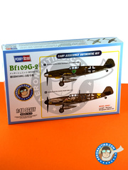 Hobby Boss: Airplane kit 1/48 scale - Messerschmitt Bf 109 G-2 - Luftwaffe (DE2); September 1940 (DE2) - plastic parts, water slide decals and assembly instructions image