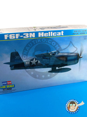 Hobby Boss: Airplane kit 1/48 scale - Grumman F6F Hellcat 3N - Guadalcanal - plastic model kit image