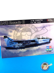 Hobby Boss: Airplane kit 1/48 scale - Ling-Temco-Vought A-7 Corsair II A-7K - plastic parts, water slide decals and assembly instructions