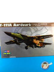 Hobby Boss: Airplane kit 1/48 scale - General Dynamics F-111 Aardvark A - plastic parts, water slide decals and assembly instructions