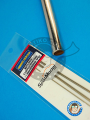 Hobby Design: Material - Stainless steel tube 1.0mm x 200mm - 5 units