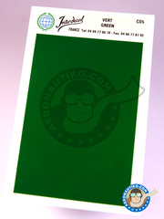 Interdecal: Decals - 75 x 110 mm Green