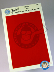 Interdecal: Decals - 75 x 110 mm red