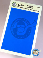 Interdecal: Decals - 75 x 110 mm blue