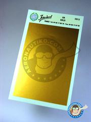 Interdecal: Decals - 75 x 110 mm Gold