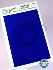 Interdecal: Decals - 75 x 110 mm Reflex blue