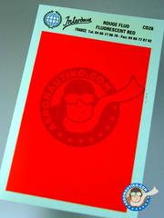 Interdecal: Decals - 75 x 110 mm Fluorescent Red