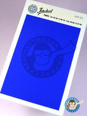Interdecal: Decals - 75 x 110 mm Violet blue