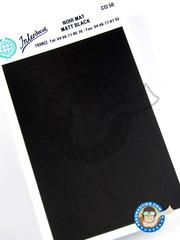Interdecal: Decals - Matt black - 75 x 110 mm