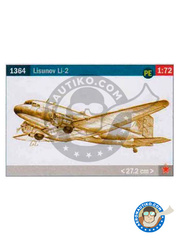 Italeri: Airplane kit 1/72 scale - Lisunov Li-2 - plastic model kit image