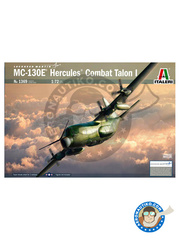 Italeri: Airplane kit 1/72 scale - Lockheed MC-130 Hercules E Combat Talon I - plastic model kit image