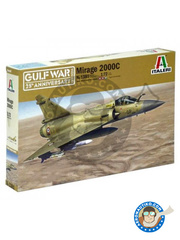 Italeri: Airplane kit 1/72 scale - Dassault Mirage 2000 C - Gulf War - plastic model kit image