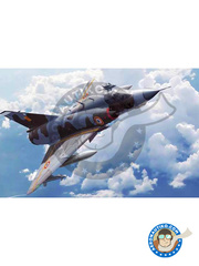 Italeri: Airplane kit 1/32 scale - Dassault Mirage III E / R - Armée de l'Air (FR3); Royal Australian Air Force RAAF (AU0); SAAF (ZA2); Swiss Air Force (CH0); Fuerza Aérea Española (ES0) - photo-etched parts, plastic parts, water slide decals and assembly instructions image