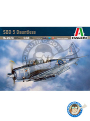 Italeri: Airplane kit 1/48 scale - Douglas SBD Dauntless 5 - Marine Corps Air Station Cherry Point, North Carolina (US7) - RAF - plastic model kit