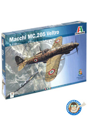 Italeri: Airplane kit 1/48 scale - Macchi M.C.205 Veltro - Aeronautica Militare (IT0); Aeronautica Militare (IT1) - Guadalcanal - plastic parts, water slide decals and assembly instructions