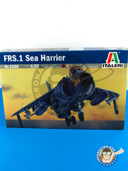 Italeri: Airplane kit 1/72 scale - British Aerospace Harrier FRS.1 Sea Harrier - plastic parts, water slide decals and assembly instructions