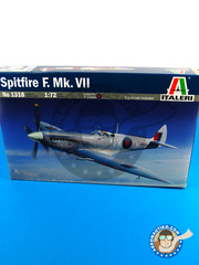 Italeri: Airplane kit 1/72 scale - Supermarine Spitfire Mk. VII - RAF - plastic parts, water slide decals and assembly instructions