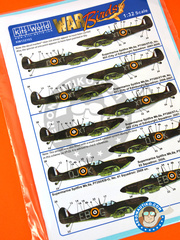Kits World: Marking / livery 1/32 scale - Supermarine Spitfire Mk.IIa Mk. IIa - RAF (GB3) - RAF - water slide decals and assembly instructions - for Revell reference REV03986 image
