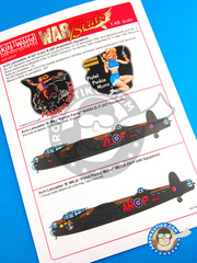 Kits World: Marking / livery 1/48 scale - Avro Lancaster B MK. I -  (GB4) - RAF - water slide decals and placement instructions - for Tamiya references 61112, TAM61105 and TAM61111