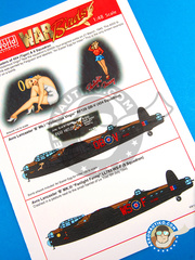 Kits World: Decals 1/48 scale - Avro Lancaster B MK. I -  (GB4) - for Tamiya references 61112, TAM61105 and TAM61111