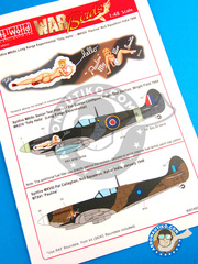 Kits World: Marking / livery 1/48 scale - Supermarine Spitfire Mk. VIII - IXc - India, 1946 (GB4) - water slide decals and placement instructions - for all kits