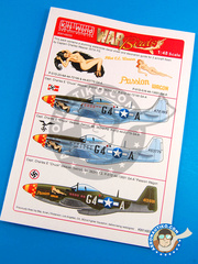 Kits World: Marking / livery 1/48 scale - North American P-51 Mustang D - for Airfix reference A05131