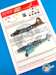 Kits World: Marking / livery 1/48 scale - Boeing B-17 Flying Fortress - USAF (US7); Luftwaffe (DE2) 1943 - for Revell reference REV04297