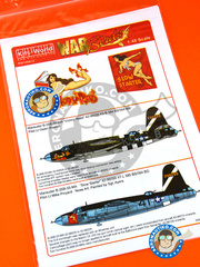 Kits World: Marking / livery 1/48 scale - Martin B-26 Marauder B - Guadalcanal - water slide decals and assembly instructions