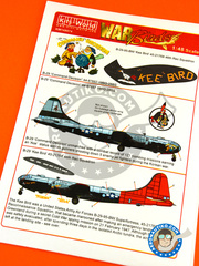 Kits World: Marking / livery 1/48 scale - Boeing B-29 Superfortress - USAF (US0); USAF (US7) - Korea War - water slide decals and assembly instructions image
