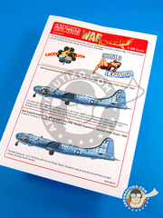 Kits World: Decals 1/48 scale - Boeing B-29 Superfortress - Marine Corps Air Station Cherry Point, North Carolina (US7) - Guadalcanal 1945
