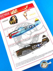 Kits World: Decals 1/48 scale - Republic P-47 Thunderbolt D - France, October 1944 (US7); USAF (US7) - Ukranian - for Tamiya reference TAM61510