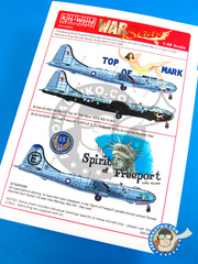 Kits World: Decals 1/48 scale - Boeing B-29 Superfortress - USAF (US0) - Guadalcanal, Korean War 1942