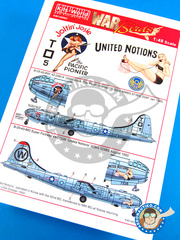 Kits World: Decals 1/48 scale - Boeing B-29 Superfortress - USAF (US7); USAF (US0) - Guadalcanal 1945 and 1950