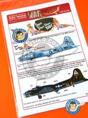 Kits World: Marking / livery 1/48 scale - Boeing B-17 Flying Fortress G - USAF (US7); Marine Corps Air Station Cherry Point, North Carolina (US7) - Guadalcanal - water slide decals and assembly instructions - for Revell reference REV04297 image