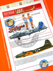 Kits World: Marking / livery 1/48 scale - Boeing B-17 Flying Fortress - Marine Corps Air Station Cherry Point, North Carolina (US7); Russia 1944 (DE2) - Guadalcanal - water slide decals and assembly instructions - for Revell reference REV04297